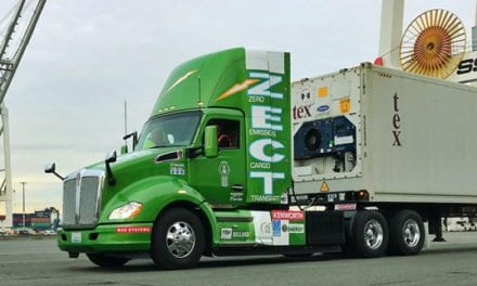 Zero-Emission Kenworth T680 Equipped with Hydrogen Fuel Cell on Display at Consumer Electronics Show