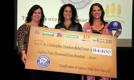 TravelCenters of America Presents Donation Check to St. Christopher Fund