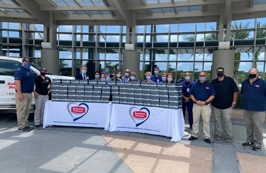 Suburban Propane Teams Up With Jersey Mike's Subs to Deliver 750 Meals to AdventHealth Wesley Chapel
