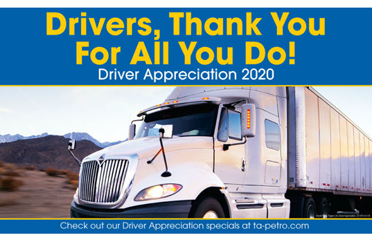 Professional Drivers to Be Celebrated at TravelCenters of America