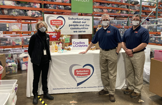 Suburban Propane Donation Supports Cradles to Crayons