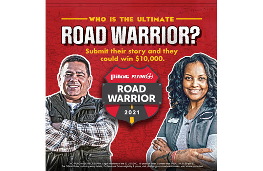 Pilot Flying J Opens Nominations for 2021 Road Warrior Title, $10,000 Grand Prize