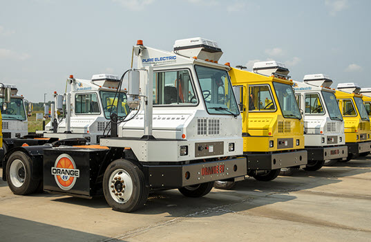 Orange EV Announces New Fast Charge Terminal Trucks for Intermodal Operations